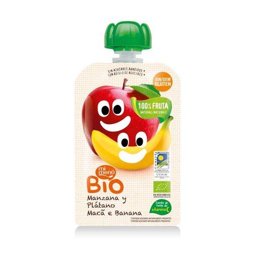 Mi Menu Bio Knijpfruit Appel & Banaan Biologisch