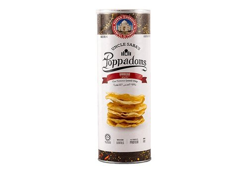 Uncle Saba's Poppadoms Barbecue Lentil Chips