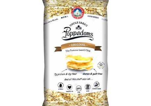 Uncle Saba's Poppadoms Original Lentil Chips Zakje
