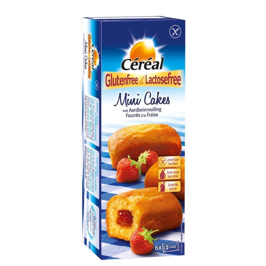 Mini Cakejes met Aardbeienvulling