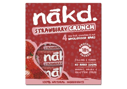 Nakd Strawberry Crunch Bar 4-pack