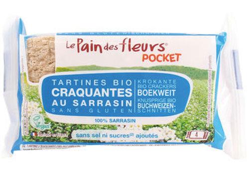 Le Pain des Fleurs Pocket Boekweit Crackers Zonder  Zout en Suiker Biologisch