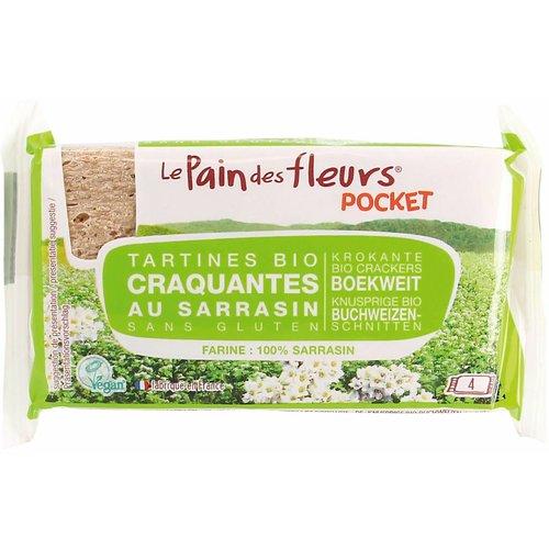 Le Pain des Fleurs Pocket Boekweit Crackers Biologisch
