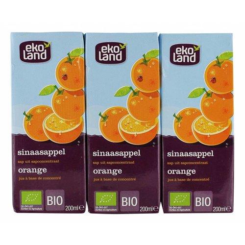 Ekoland Sinaasappel sap 3-pack Biologisch