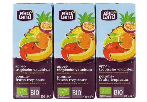 Ekoland Appel Tropische Vruchten 3-pack Biologisch