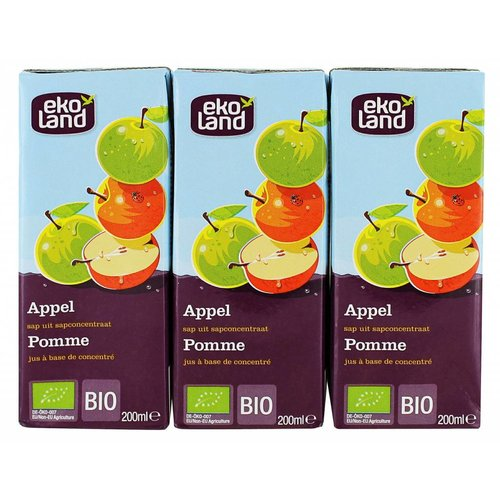 Ekoland Appel sap 3-pack Biologisch