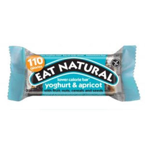 Eat Natural Yoghurt en Abrikoos lage calorie reep met fruit, noten, granen en zaden (THT 11-2018)