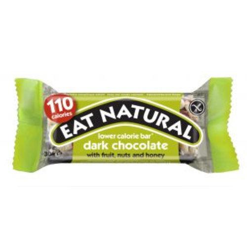 Eat Natural Pure Chocolade lage calorie reep met fruit, noten en honing (THT 12-2018)