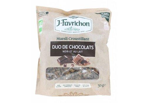 J. Favrichon Knapperige Muesli met Chocolade Biologisch