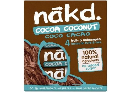 Nakd Cocoa Coconut Bar 4-pack (THT 17-11-2020)