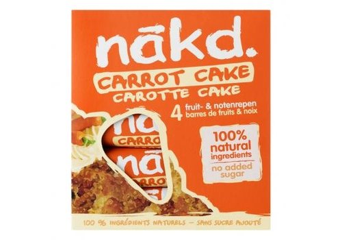 Nakd Carrot Cake Bar 4-Pack
