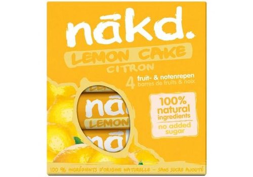 Nakd Lemon Cake Bar 4-pack