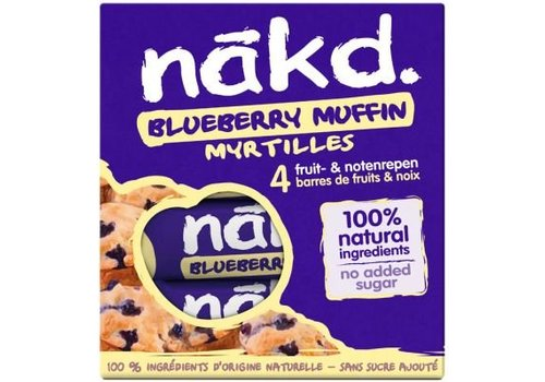 Nakd Blueberry Muffin Bar 4-pack