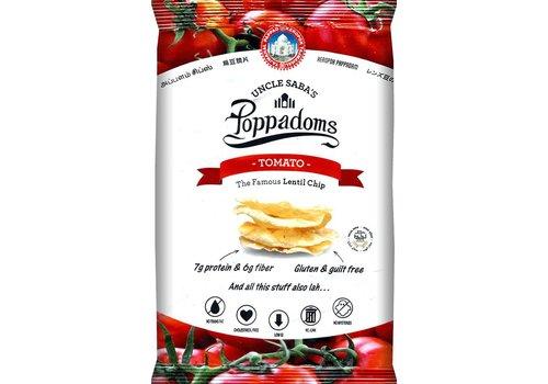 Uncle Saba's Poppadoms Tomato Lentil Chips Zakje