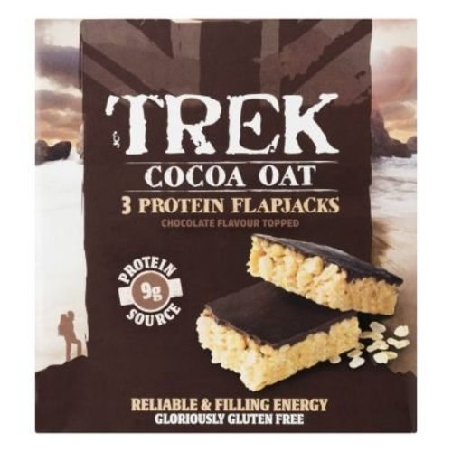 Trek Protein Flapjack Cocoa Oat 3-pack