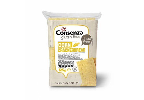 Consenza Luchtige Mais Crackers (THT 10-4-2020)