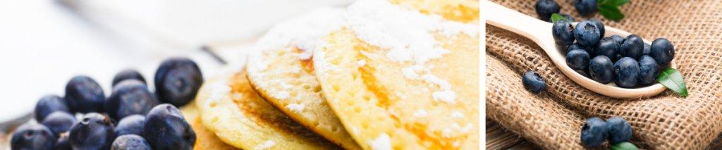 Recept: glutenvrije pannenkoeken met blauwe bessen