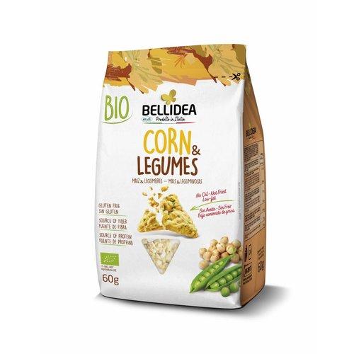 Bellidea Corn & Legumes Snack Biologisch (THT 22-11-2020)