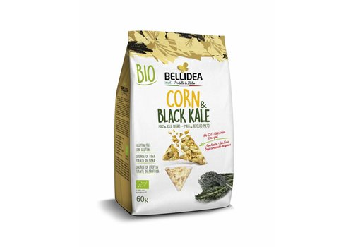 Bellidea Corn & Black Kale Snack Biologisch (THT 23-11-2020)