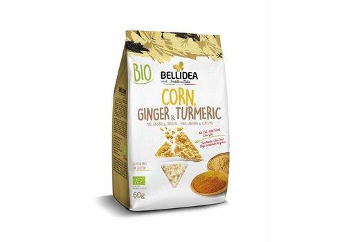 Bellidea Corn & Ginger & Turmeric Snack Biologisch