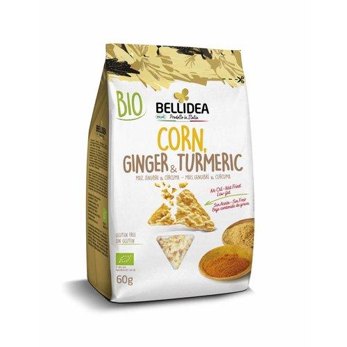 Bellidea Corn & Ginger & Turmeric Snack Biologisch (THT 21-11-2020)
