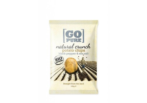 GoPure Potato Chips, Blackpepper & Seasalt Biologisch