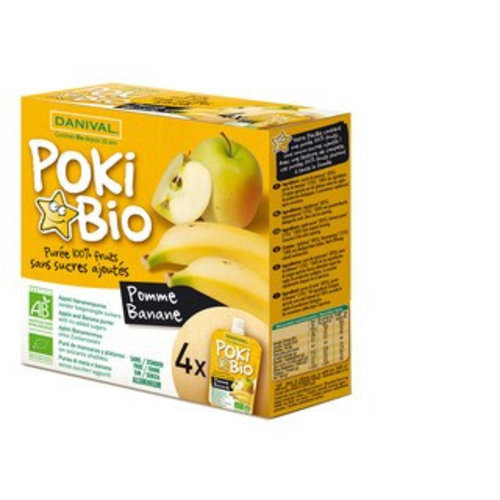 Danival Knijpfruit Poki Bio appel banaan