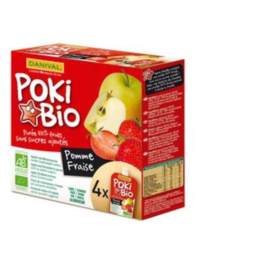 Knijpfruit Poki Bio appel aardbei