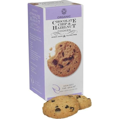 Against The Grain Chocolate Chip Hazelnut Cookies Biologisch