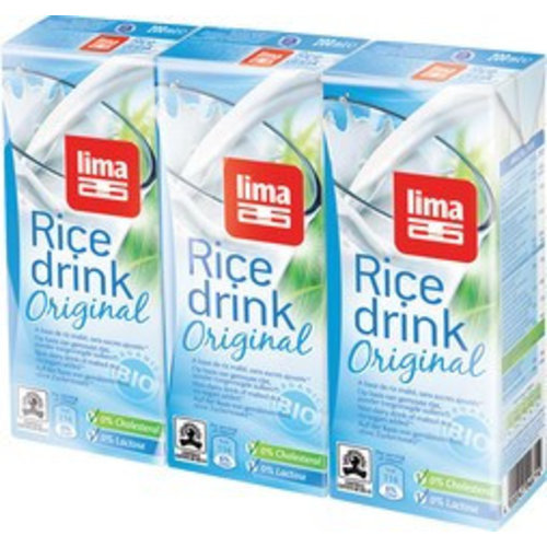 Lima Rice Drink Original Mini 3-Pack Biologisch
