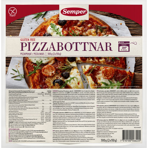 Semper Pizzabodems 2 Stuks