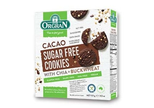 Orgran Sugar Free Cookies Cacao (THT 15-10-2020)