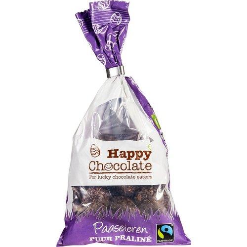 Happy Chocolate Paaseieren Puur Praliné Biologisch