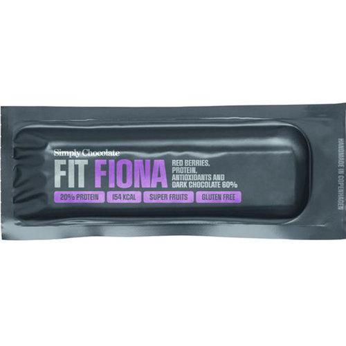 Simply Chocolate Fit Fiona met Rode Bessen en Dark Chocolade