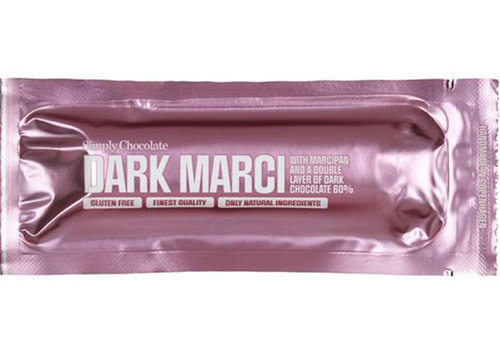Simply Chocolate Dark Marci met Marsepein en 60% Dark Chocolade