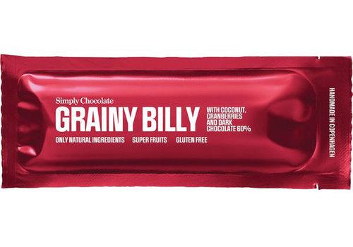 Simply Chocolate Grainy Billy Kokos Cranberrie (THT 10-2019)