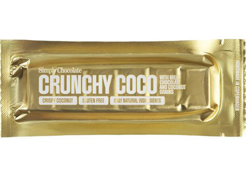 Simply Chocolate Crunchy Coco Melk Kokos (THT 10-2019)