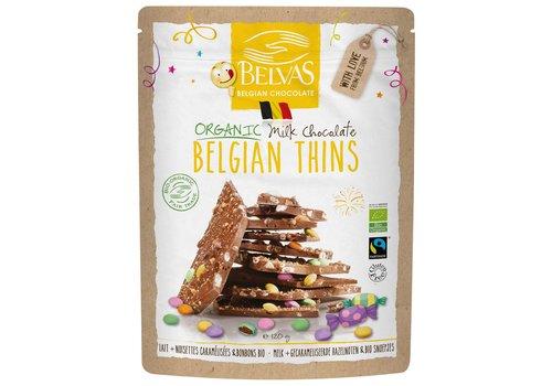 Belvas Belgian Thins Melk en Snoepjes Biologisch