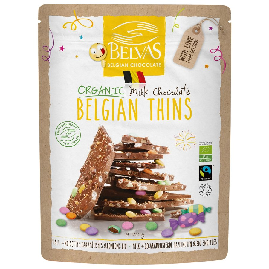 Belgian Thins Melk en Snoepjes Biologisch