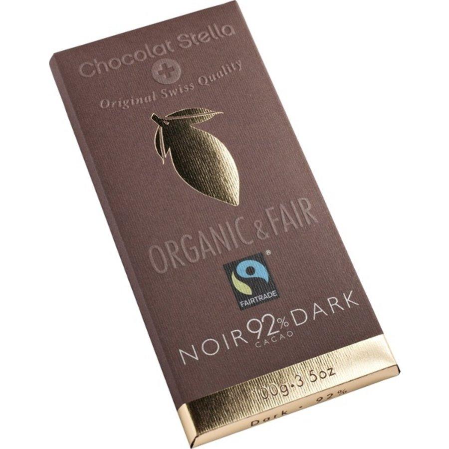 Chocoladereep 92% Puur Biologisch  Fairtrade