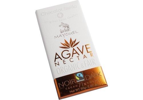 Chocolat Stella Chocoladereep 71% Puur Met Agave Nectar Biologisch