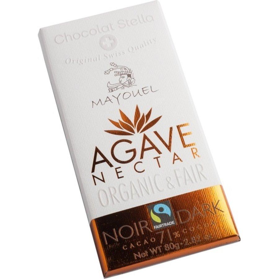 Chocoladereep 71% Puur Met Agave Nectar Biologisch
