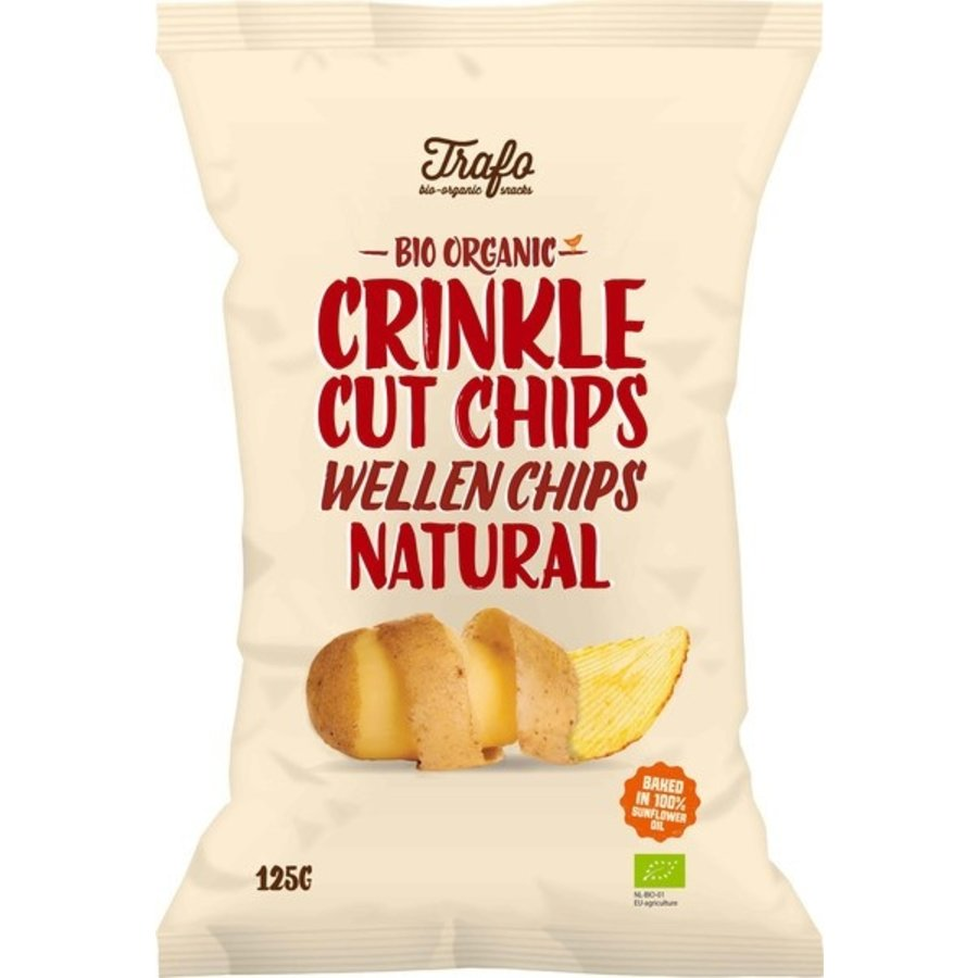 Ribbelchips Naturel Gezouten Biologisch
