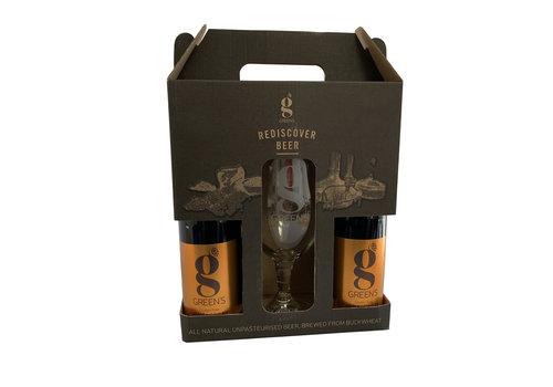 Green's Gilded Golden Ale Geschenkverpakking + Glas
