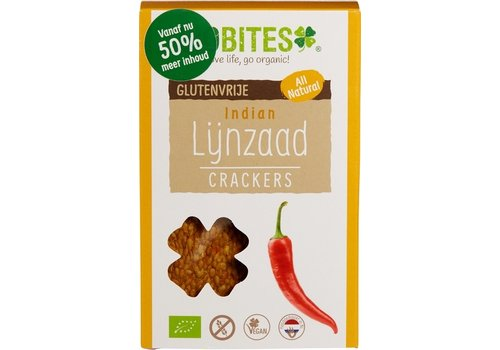 BioBites Lijnzaadcrackers Indian Biologisch