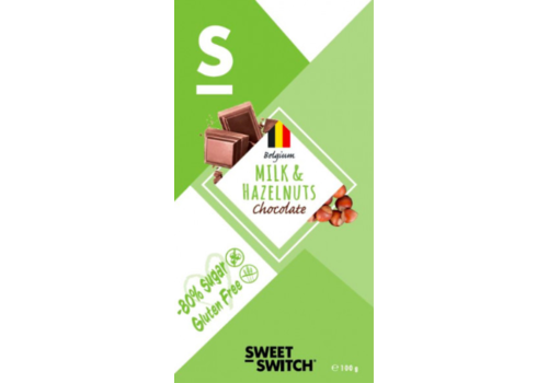 Sweet-Switch Milk & Hazelnuts Chocolate