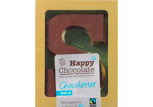 Happy Chocolate Chocoladeletter Melk Biologisch