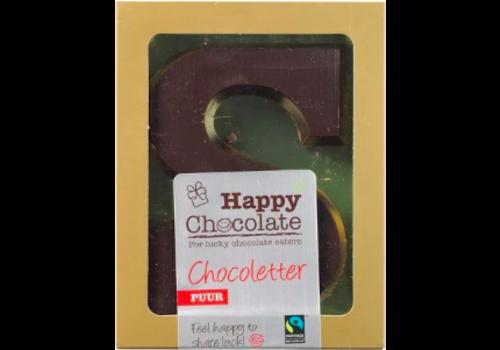 Happy Chocolate Chocoladeletter Puur Biologisch