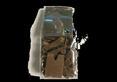 Happy Chocolate Mini Letters Melk Biologisch