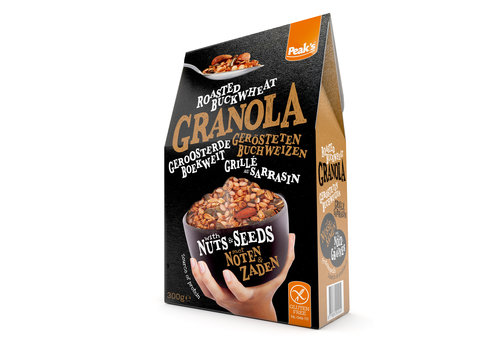 Peak's Free From Granola met Boekweit, Noten en Zaden